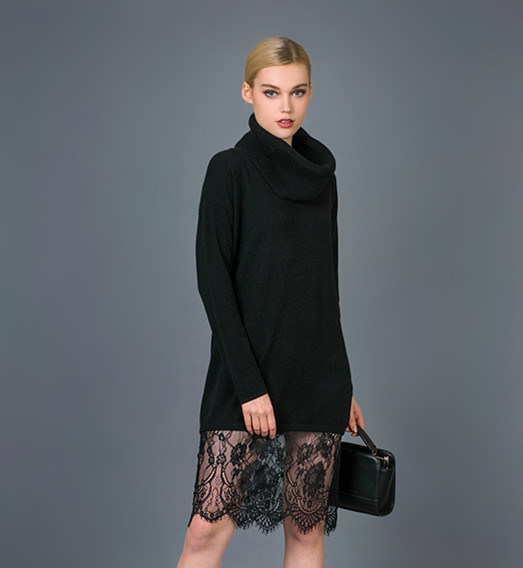 Lady′s Fashion Knitted Dress 16brpv060