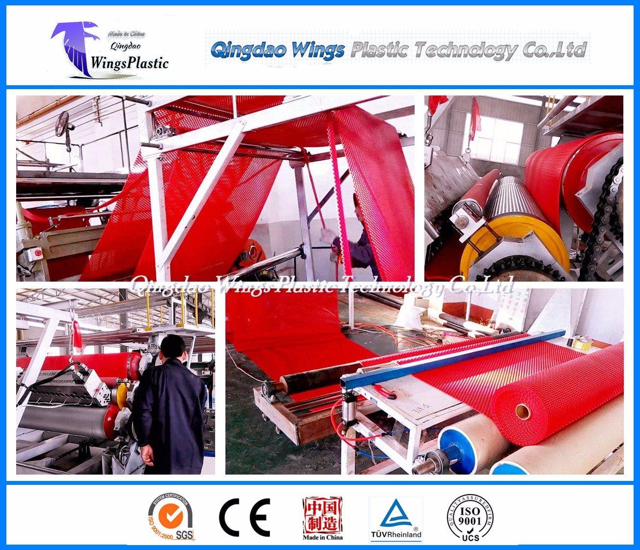 Plastic PVC Calendering Mat Production Line / Plastic Anti-Slip Extrusion Machine