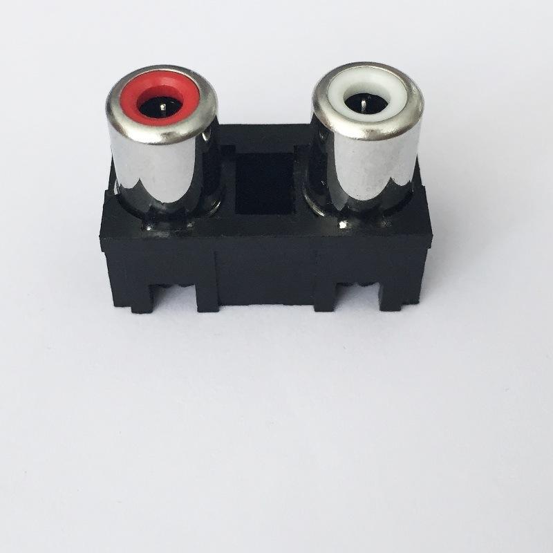 AV Socket with The Core Lotus Single-Hole RCA Socket Audio and Video Terminals AV2-8.4-5