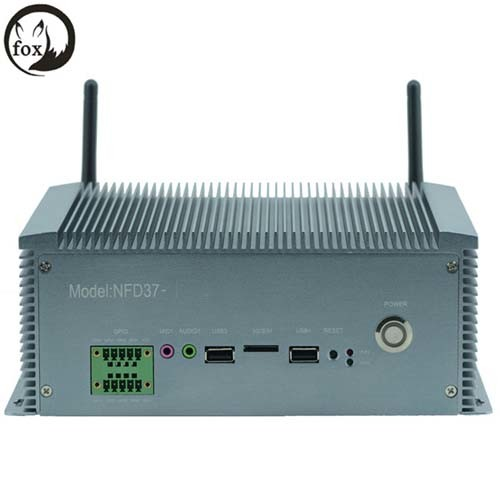6*USB RS232/422/485 Intel 1037u 1.8GHz Dual-Core CPU Embeded Min PC Embeded Industrial Computer with 2*Intel Gigabit Ethernet