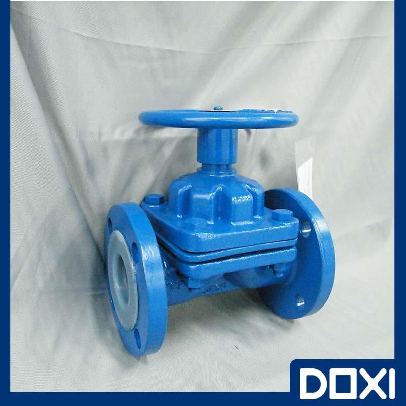 Handwheel Anti-Corrosive PFA Lined Diaphragm Valve