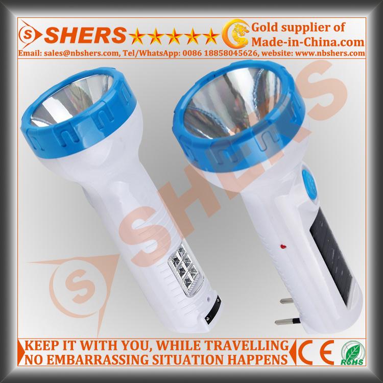 Solar 1W LED Flashlight with 6PCS LED Desk Lamp (SH-1919)
