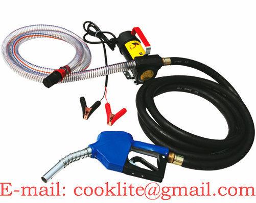 12V/24V Diesel Fuel Transfer Pump Kit / Mini Diesel Fuel Dispenser - 175W 45L/Min