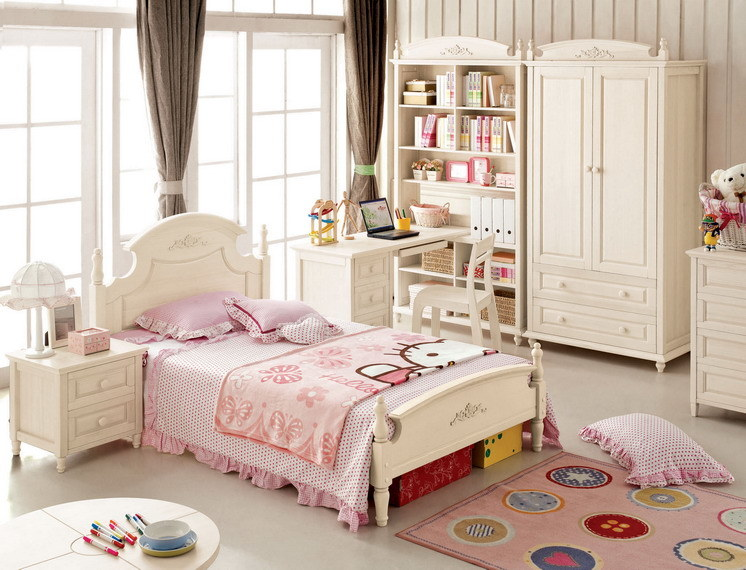 China Korean Style Children Bedroom Furniture For Solid
