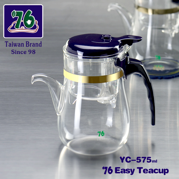 76 New Style Easy Glass Tea&Coffee Cup with Infuser Yc-575