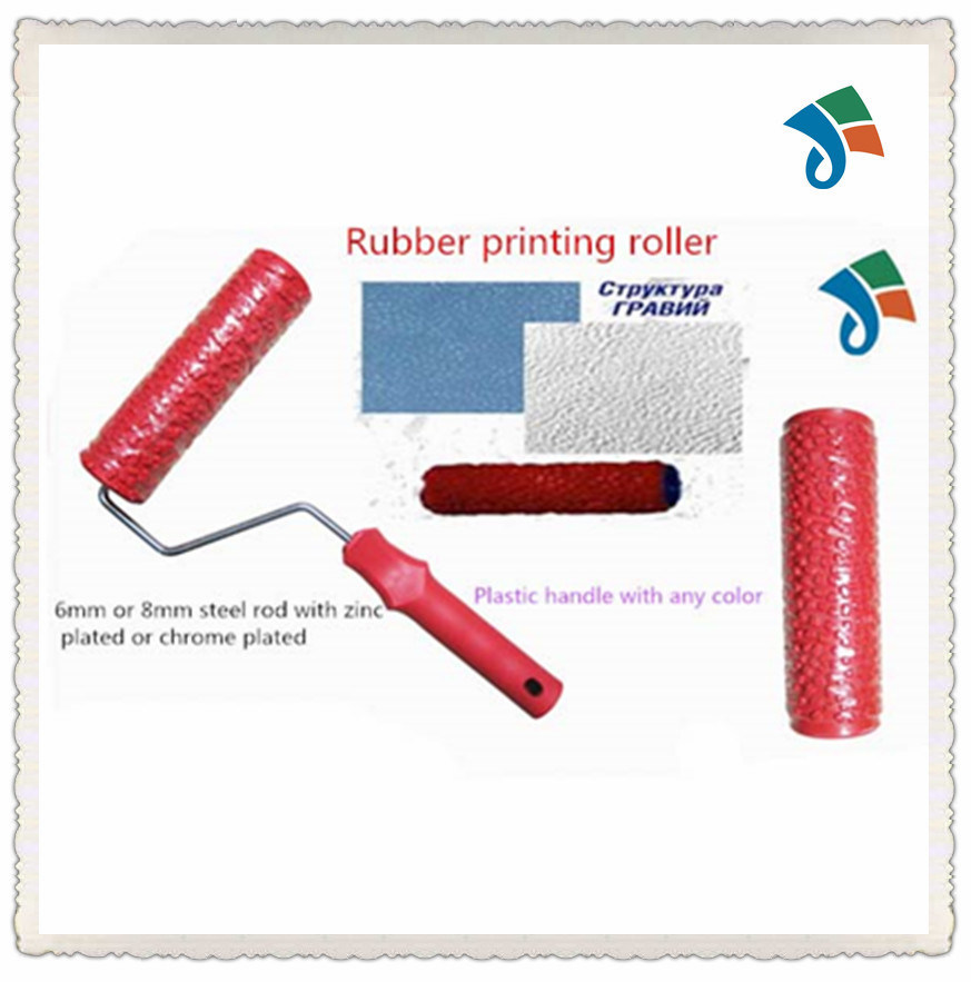 Plastic Handle Rubber Decorating Pattern Paint Printing Roller