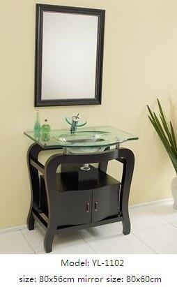 Sanitaryware Bathroom Vanity with Glass Mirror
