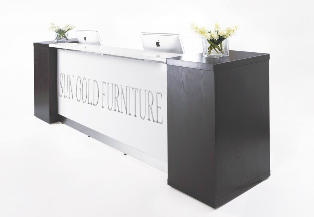 White Painting Reception Desk, Front Desk for Company Use (SZ-RT012)