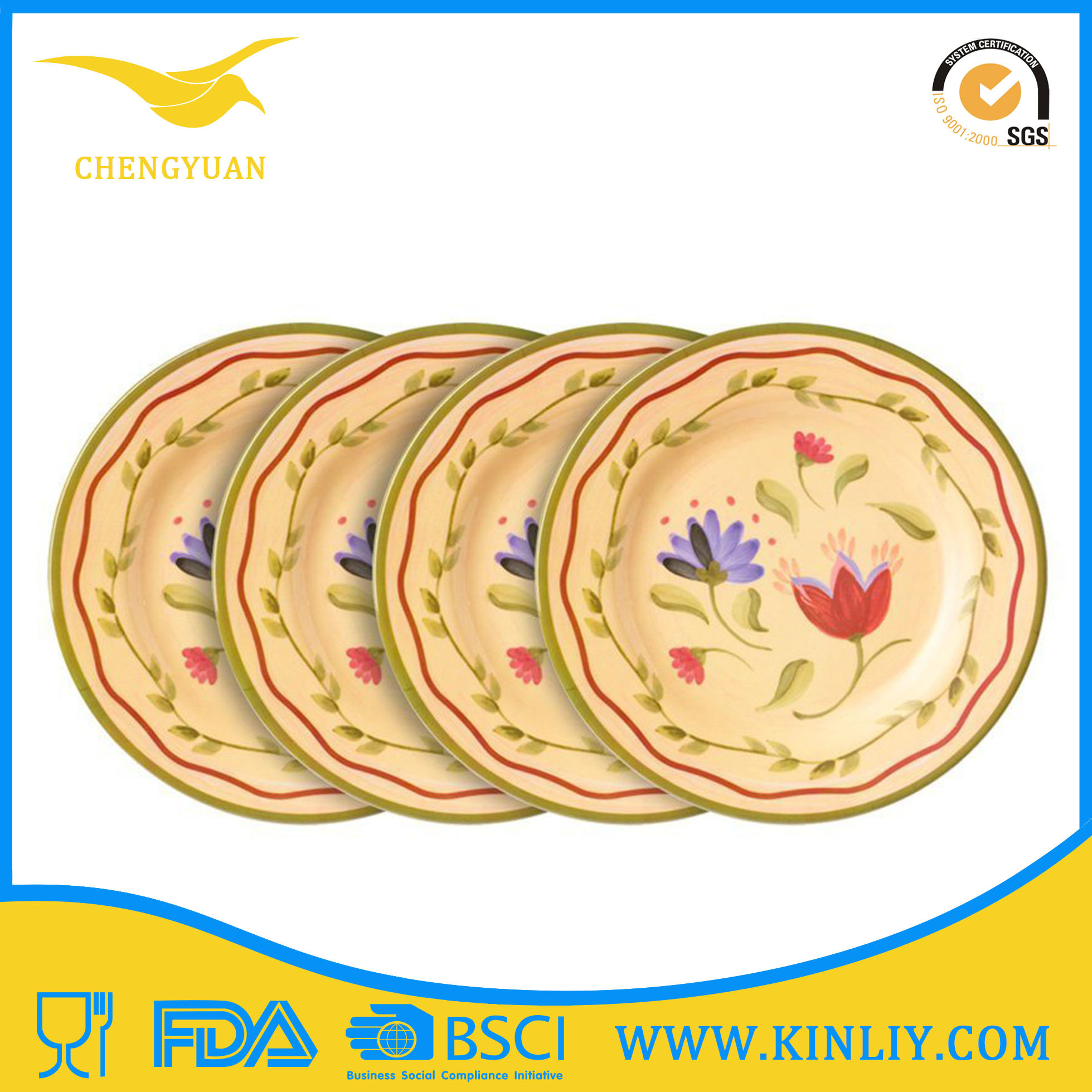 High Quality China Melamine Salad Plate Dinnerware for Restaurant