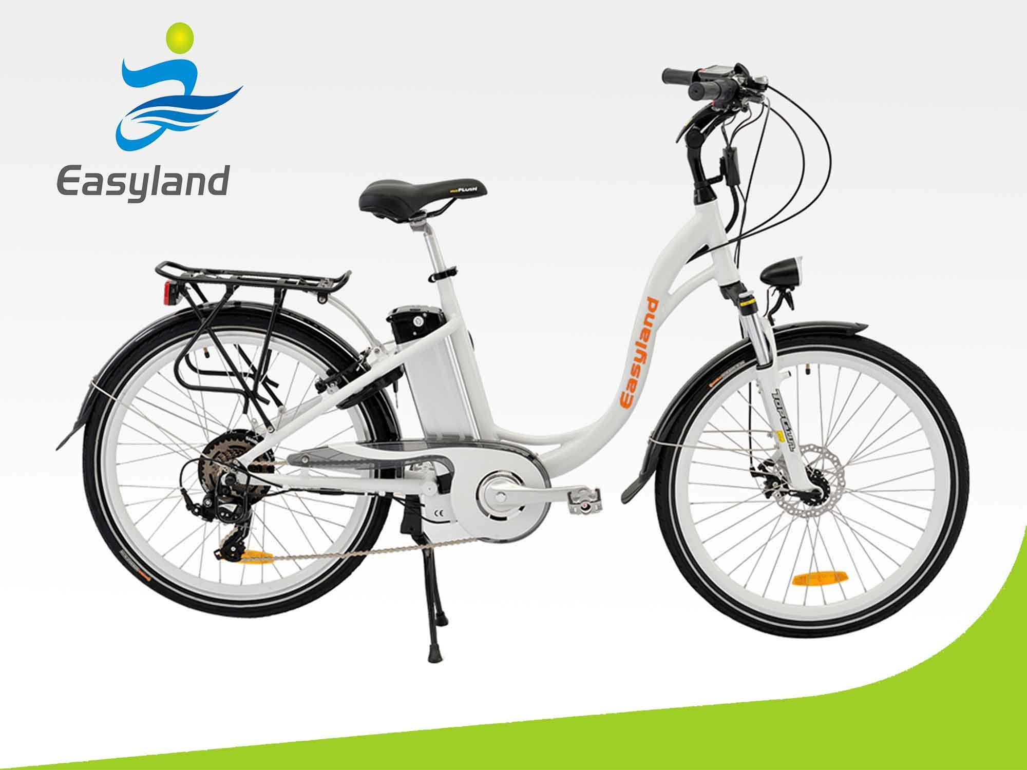 26 Inch Electric City Bike with Lithium Battery