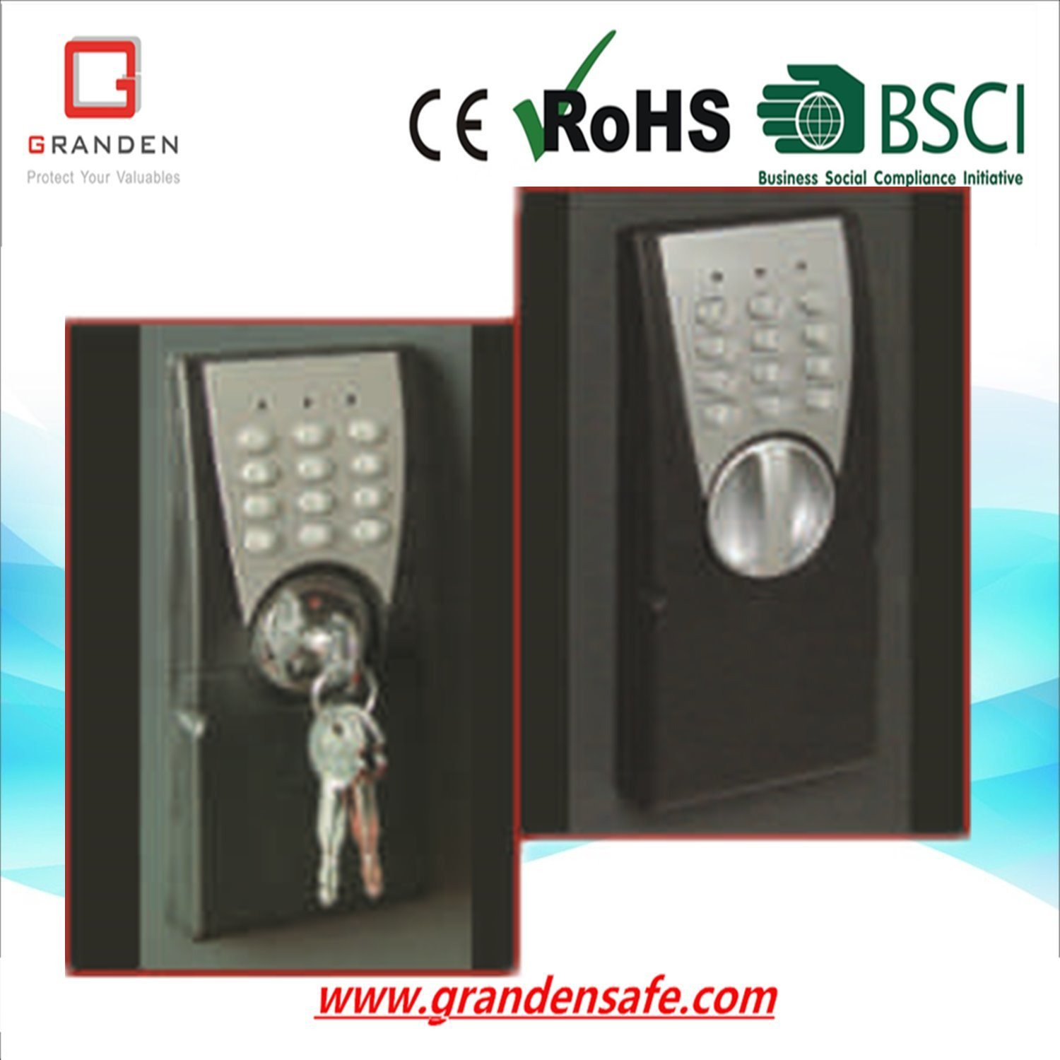 Electronic Safe Box for Home and Office (G-30EP) , Solid Steel