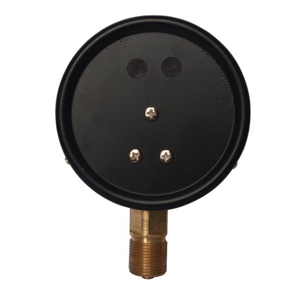 4inch-100mm Black Steel Case Brass Connection Bottom Thread Type Pressure Gauge