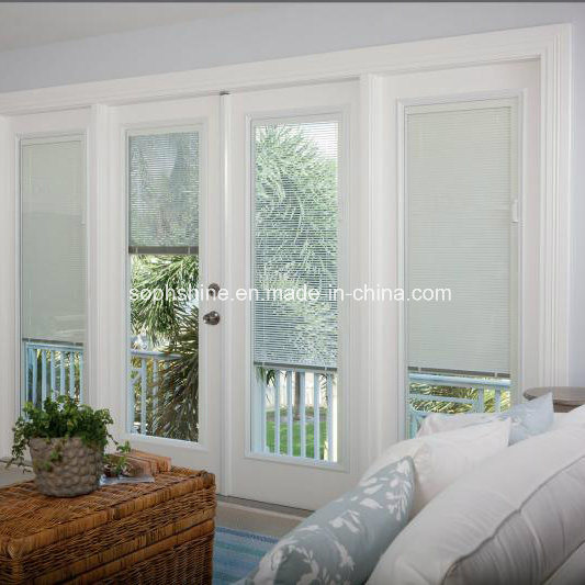 Aluminium Shutters Between Insualted Glass Motorized for Shading or Partition