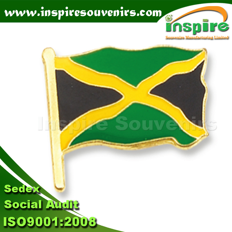 Customized Gold Plated Oil-Filled Flag Metal Pin (B 602)