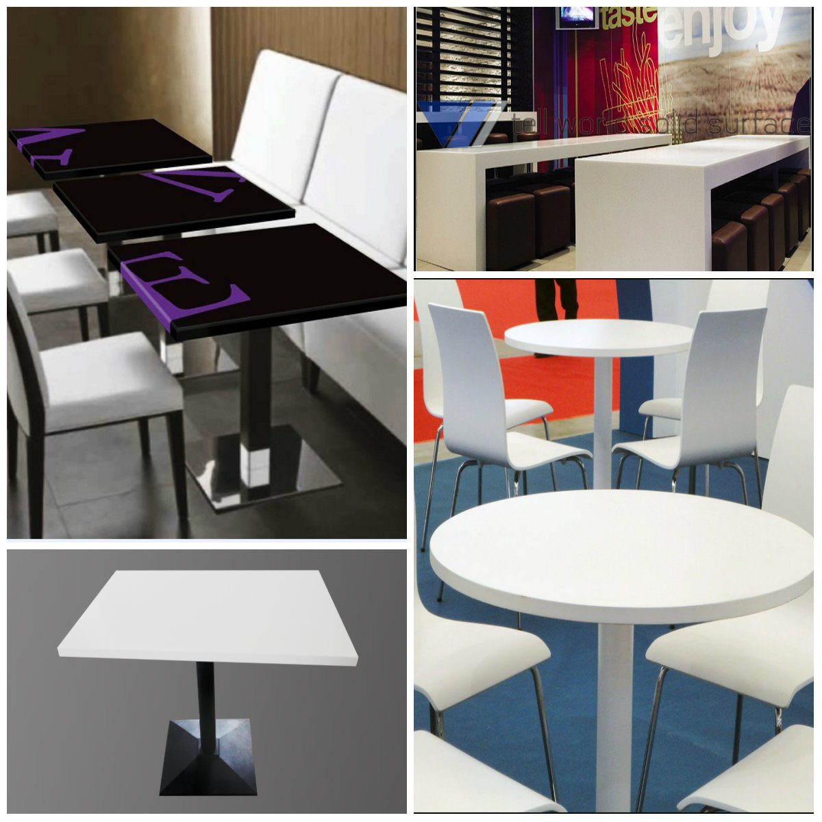 Modern round design coffee table top set for restaurant for Table design for restaurant