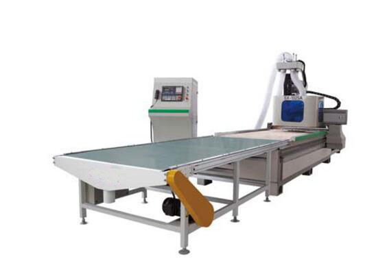 Wood Work Use CNC Router with Loading and Unloading Parts