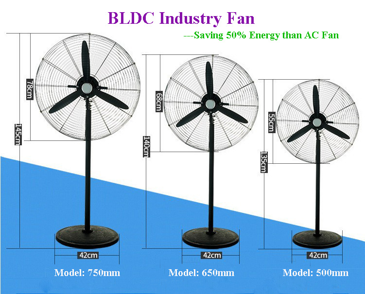 """20"""" 26"""" 30"""" Inverter Industrial Stand Fan with Energy Saving BLDC Motor"""