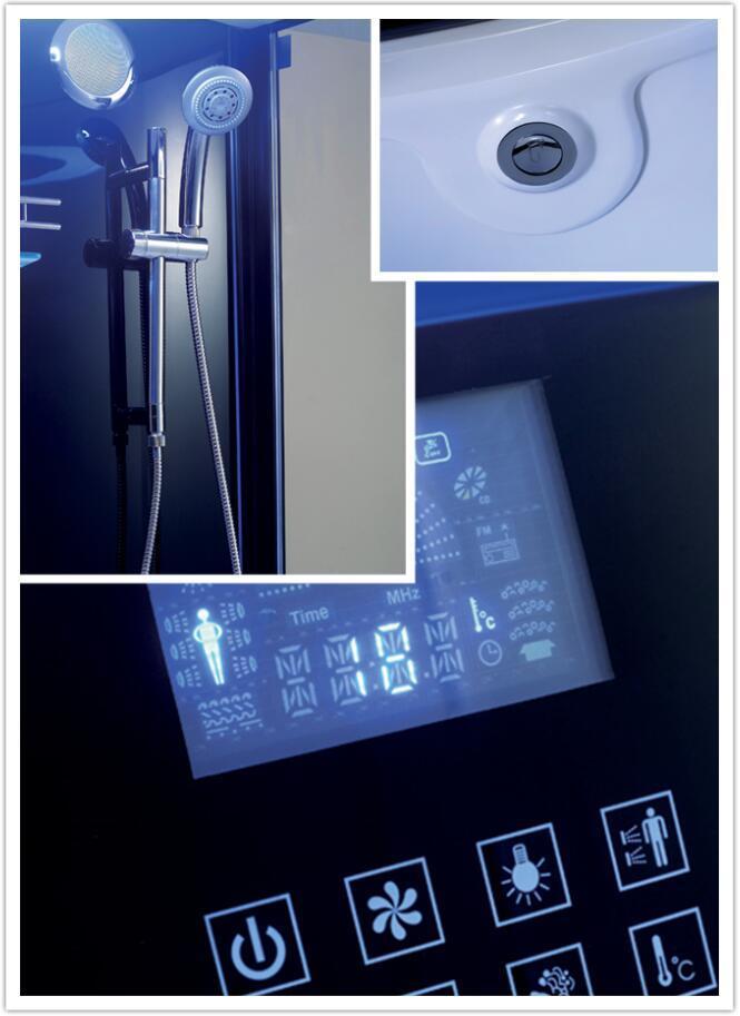 Monalisa Black Round Computerized Shower Room with Steam Sauna (M-8280)