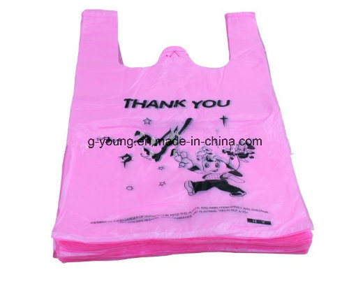 Customized Printed Plastic T Shirt Shopping Bag
