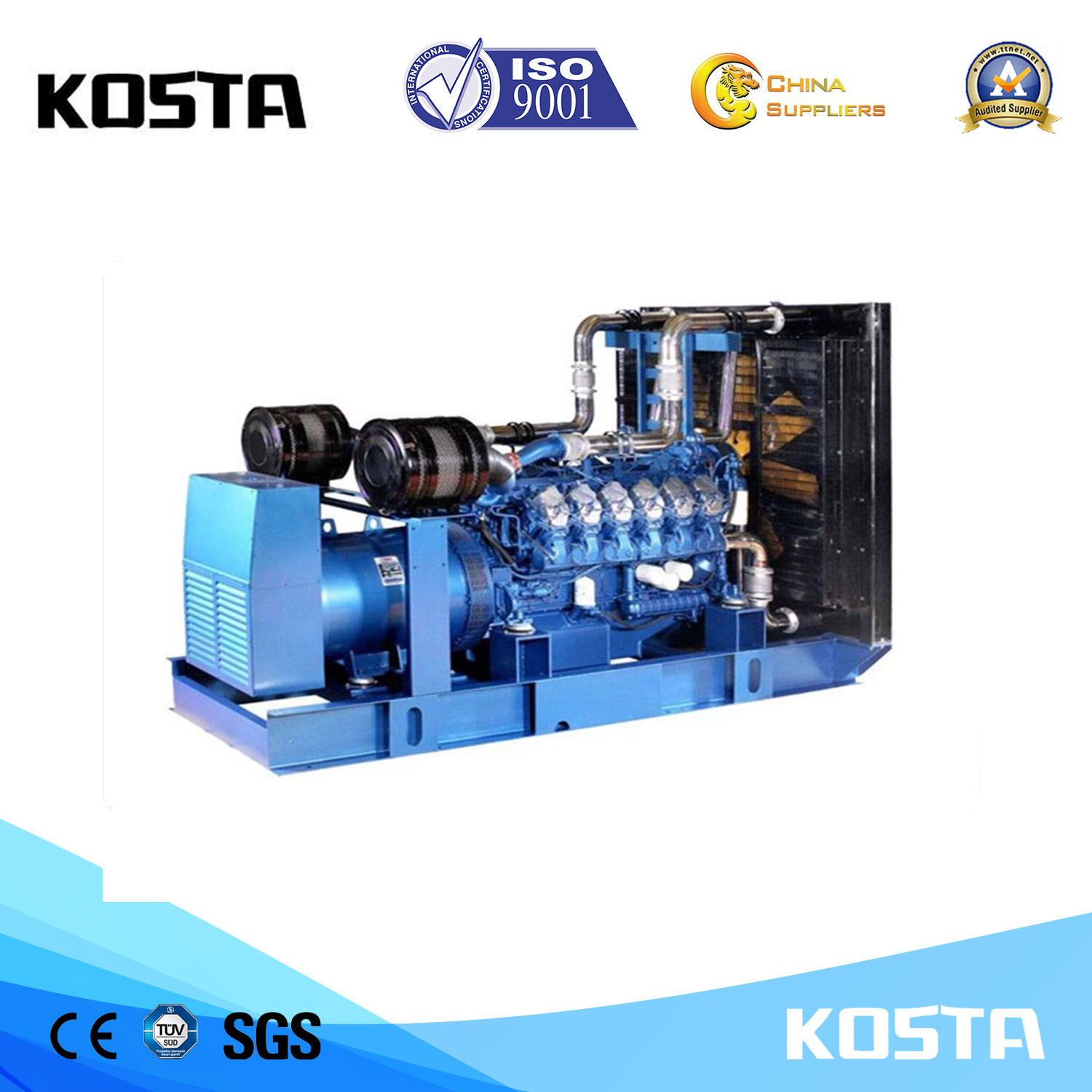 China Factory Price Soundproof 180kVA Weichai Portable Diesel