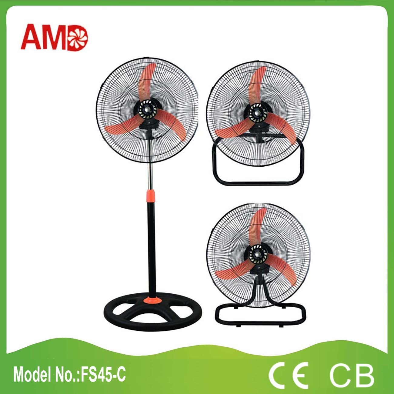 18 Inch 3 in 1 Stand Fan Table Fan Wall Fan