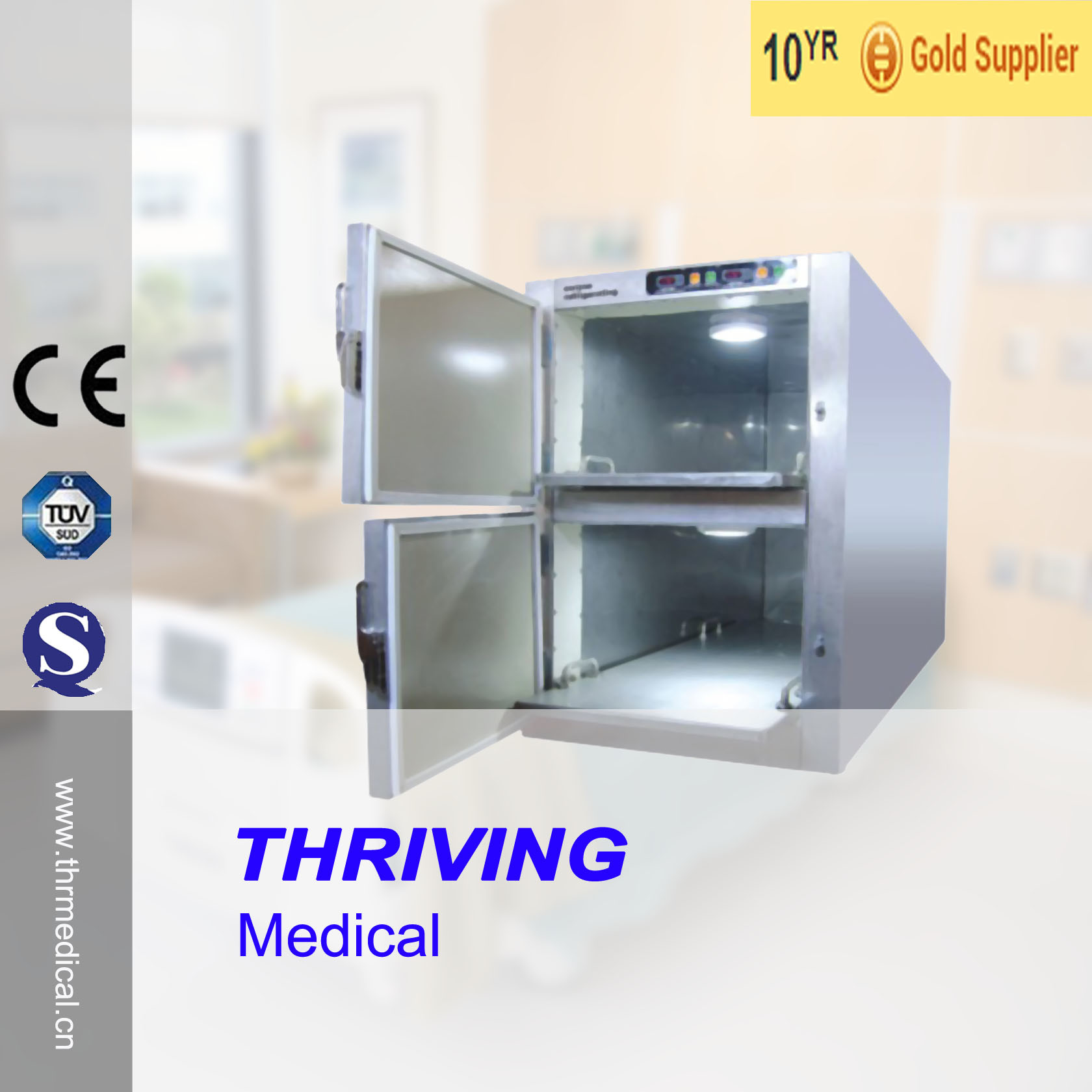 Medical Stainless Steel Mortuary Refrigerator (THR-FR002)