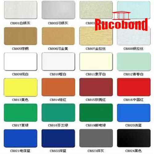 Rucobond Aluminum Composite Panel Building Material (RCB130827)