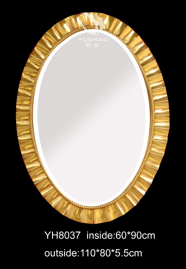 China pu decorative mirror frame yh8037 china mirror for Y h furniture trading