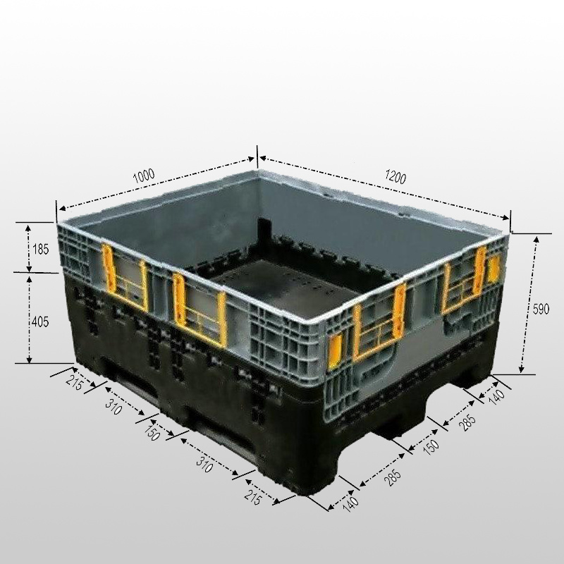 1200*1000*590mm Collapsible Pallet Container From China