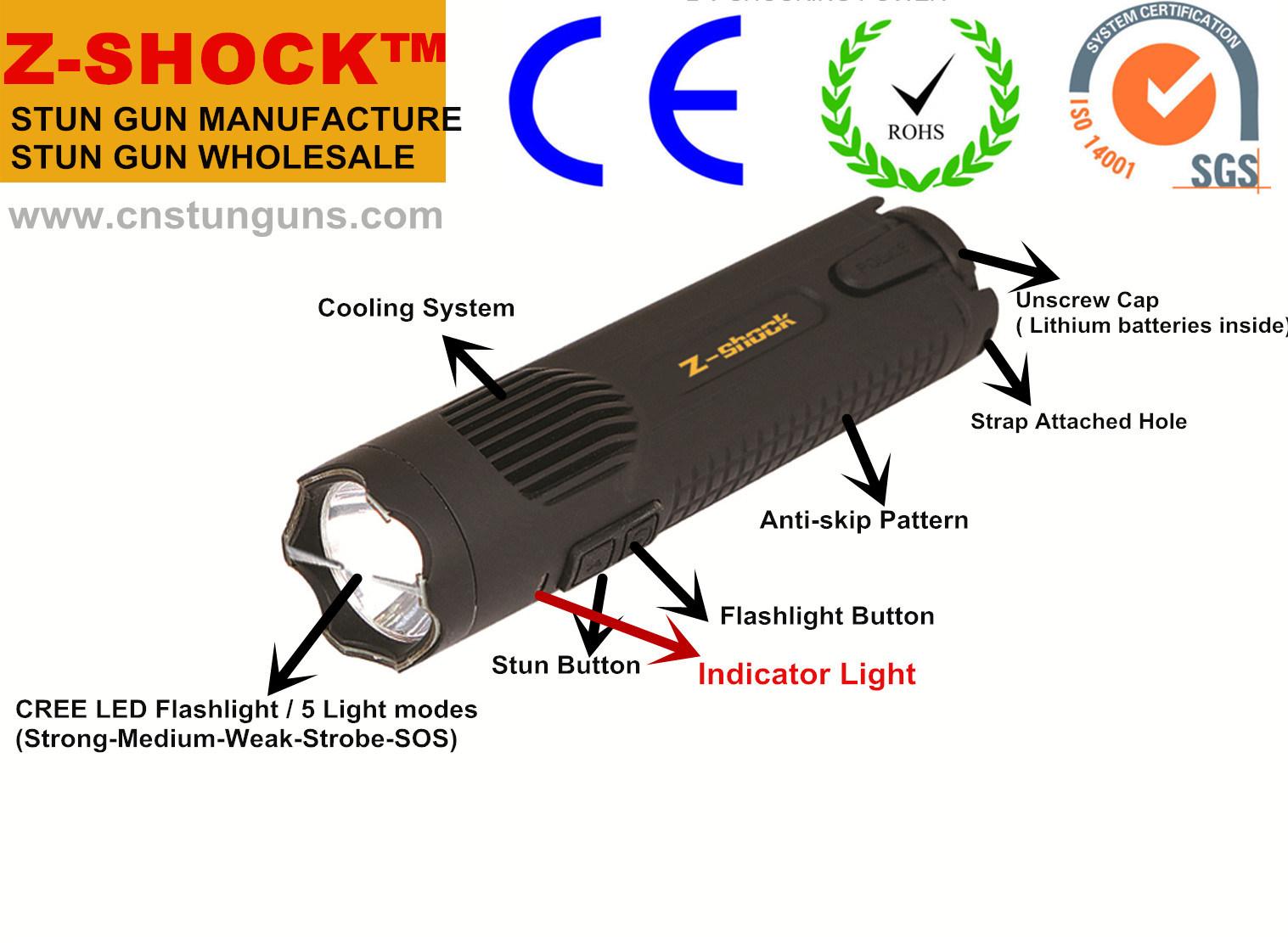 LED Flashlight Stun Gun (1101) Type for Self-Defense with RoHS