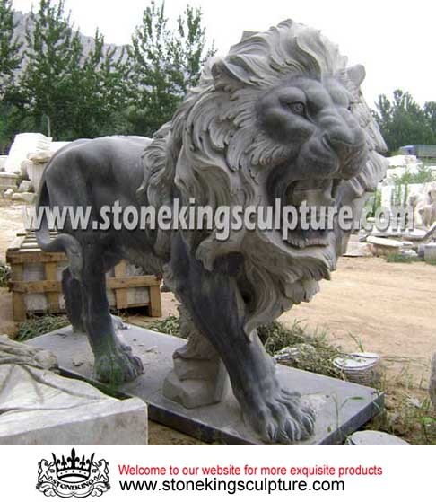 Marble Lion, Carved Stone Lion and Marble Animals (SK-2186)