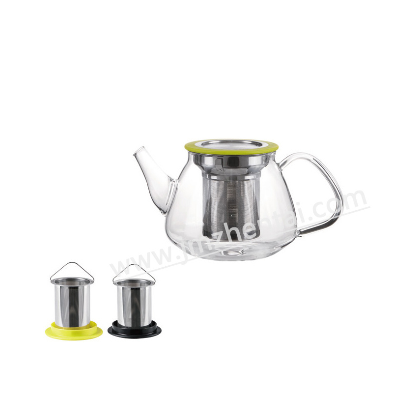 Clear Heat Resistant Glass Teapot 500ml with Removed Tea Infuser