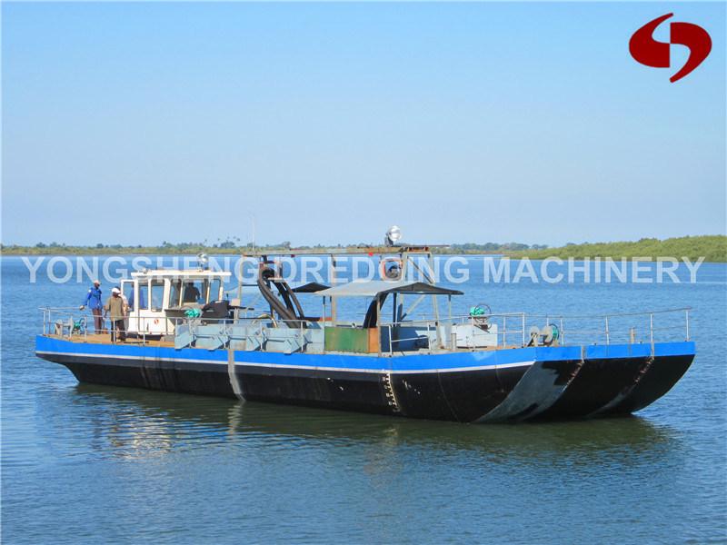 Sand Transportation Barge Via Pipeline