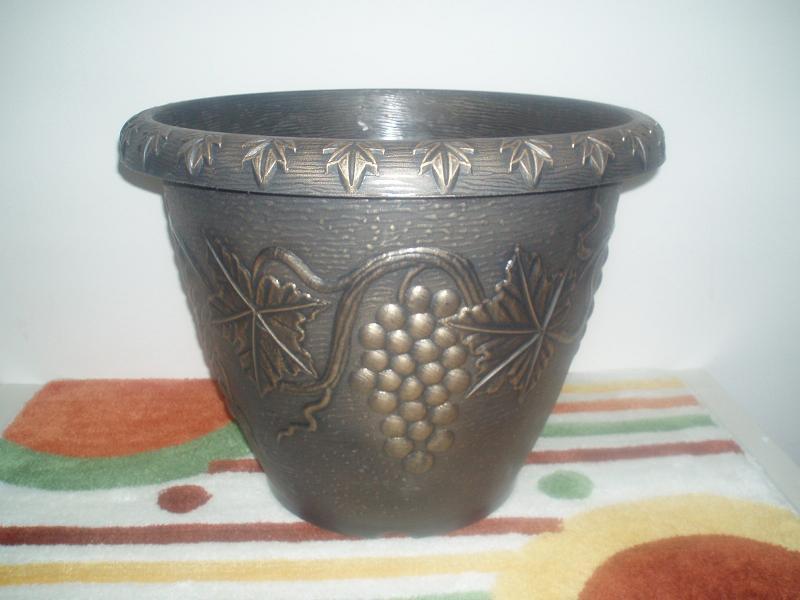 China plastic flowerpot fancy design cfp 018 bb for Fancy flower pots
