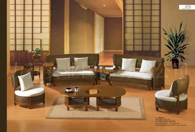 China rattan furniture living room set tw 809 china for Rattan living room furniture