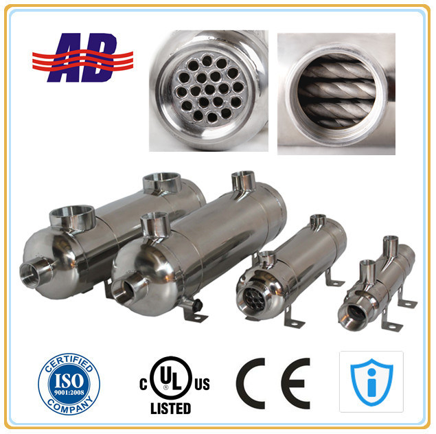 CE Approved Stainless Steel Shell & Tube Hydraulic Oil Cooler (EC140-H)