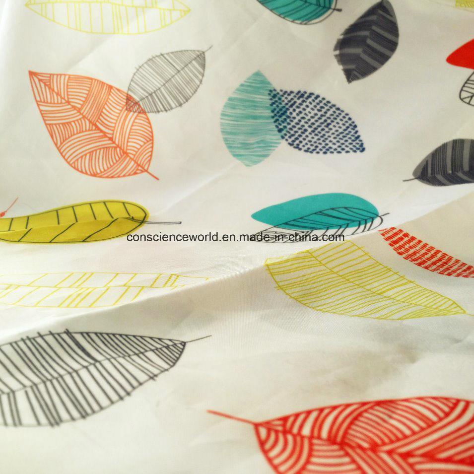Custom Cheap Polyester Transfer Printed Shower Curtain