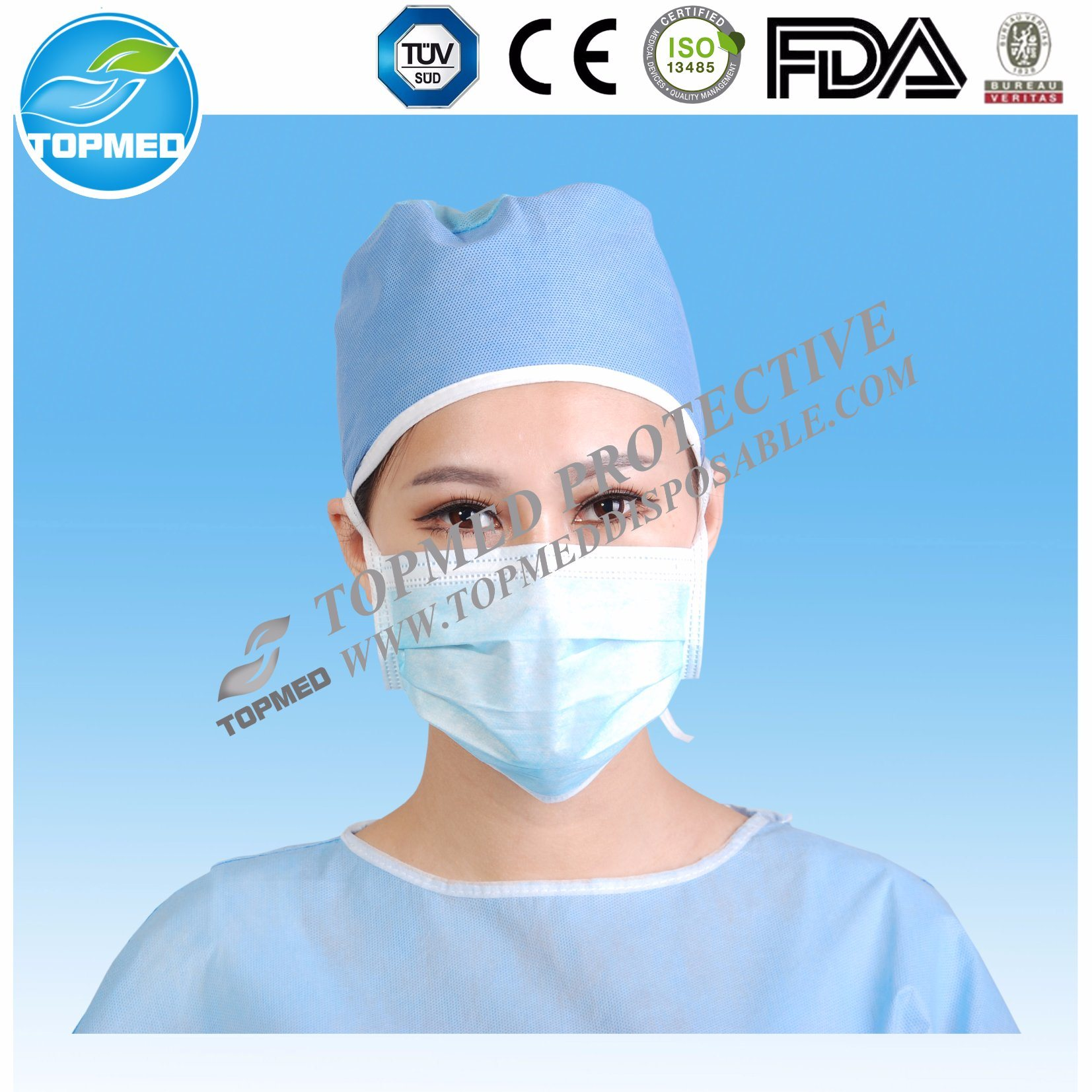 Disposable Nonwoven 3ply Surgical Face Mask for Medical/Hospital