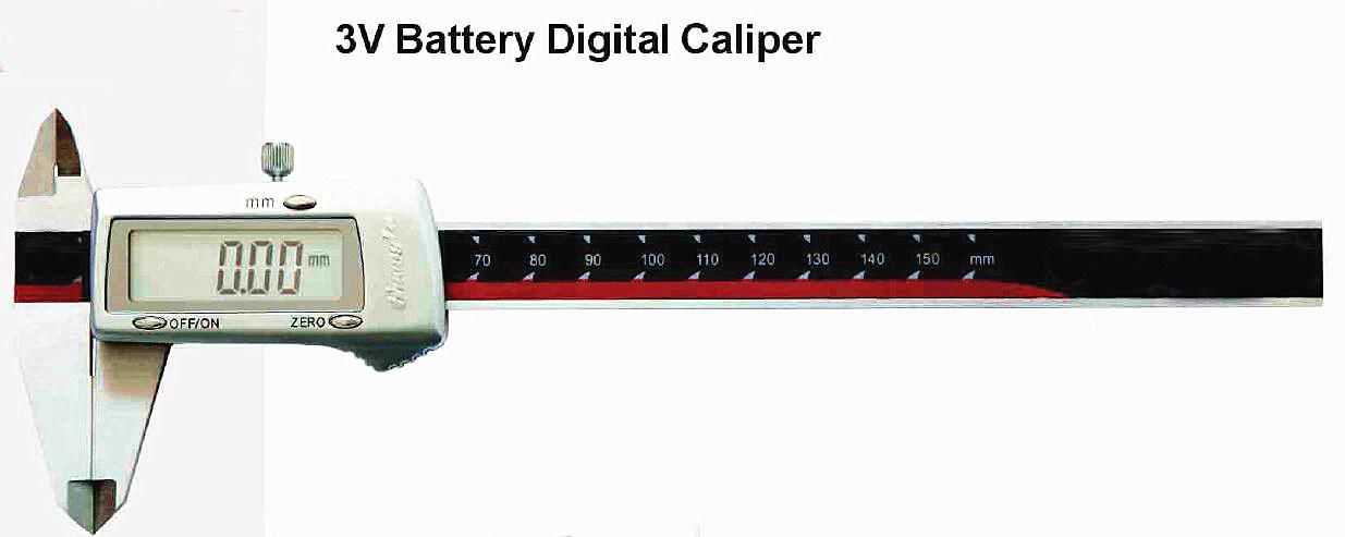 Inch Metric 3V Battery Digital Caliper 150/200/300mm