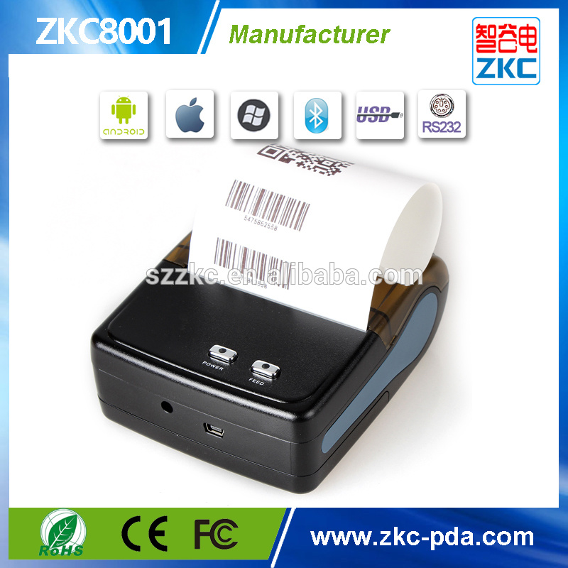 80mm Thermal Receipt Printer with WiFi and Bluetooth Zkc8001