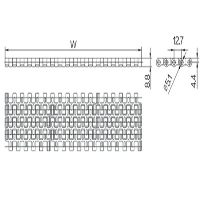 12.7mm Pitch Modular Belt (WZ-1270)