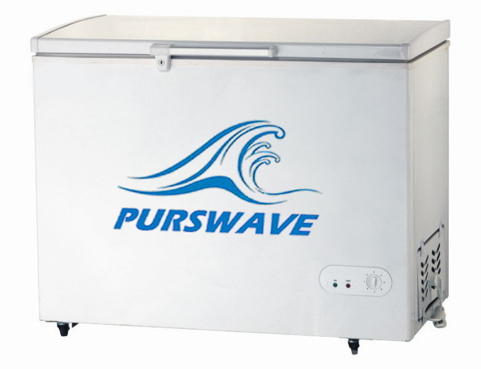 Purswave Bd/Bc-240 240L DC Solar Chest Deep Freezer 12V24V48V Single Door Refrigerator DC Compressor Freezer Powered by Solar Panel and Battery -18degree