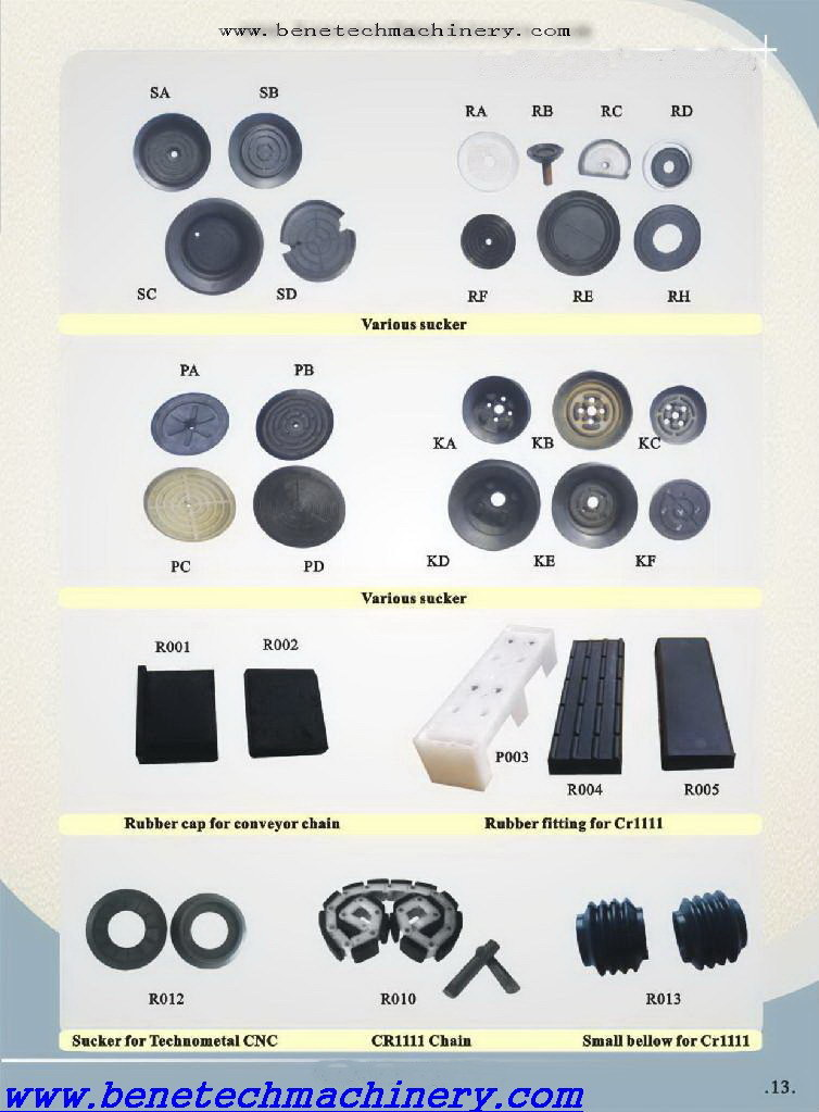 Stock Plastic/Rubber Pad for Z. Bavelloni Pr88, Cr1111, Bavelloni Spare Parts