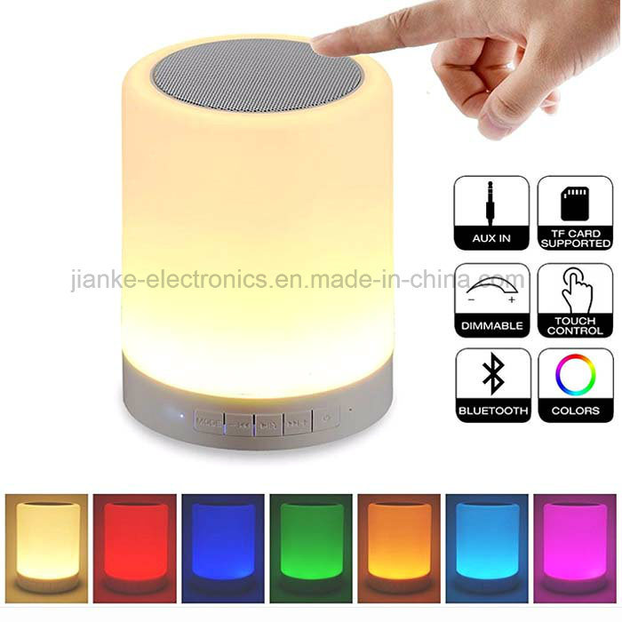 Portable Wireless LED Light Bluetooth Speaker with Logo Printed (533)