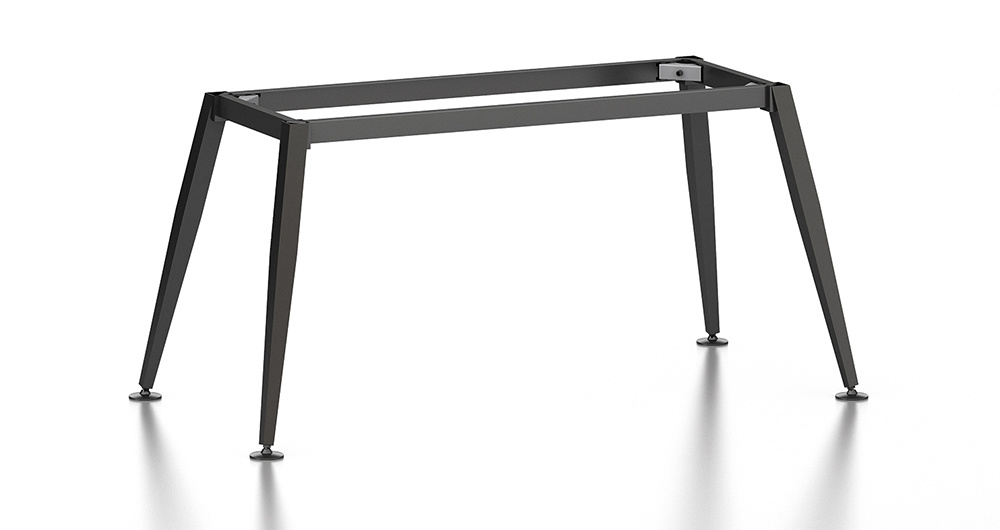 Black Customized Metal Steel Office Staff Table Leg with Ht80-1