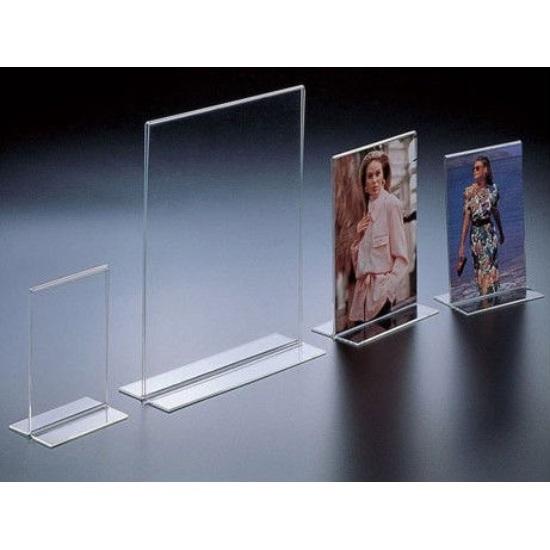 Customized Ad-180 Acrylic Clear Sign Menu Brochure Holder