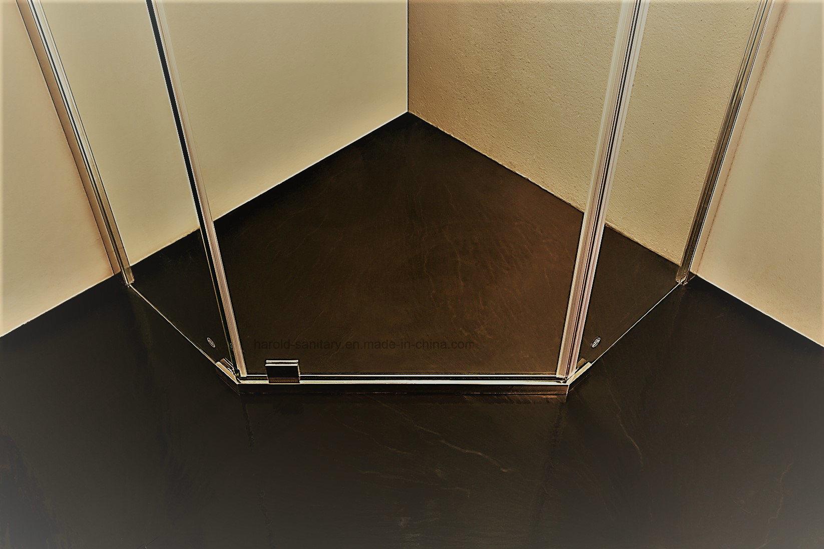 HR-P050 Diamond Shape Pivot Hinge Open Shower Enclosure