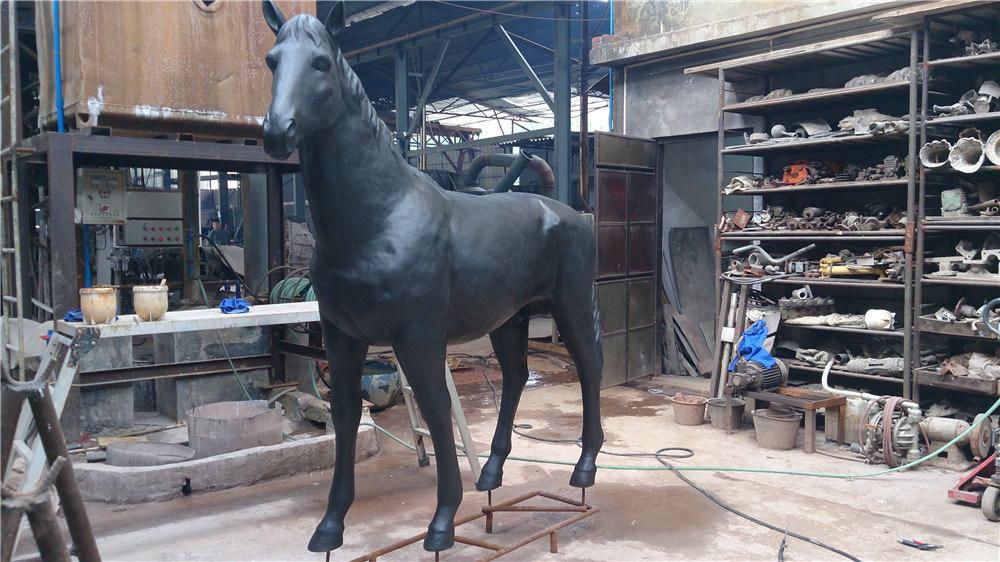 Copper Horse (large / small) , Outdoor Garden Metal Animal Decoration, Interior Decoration
