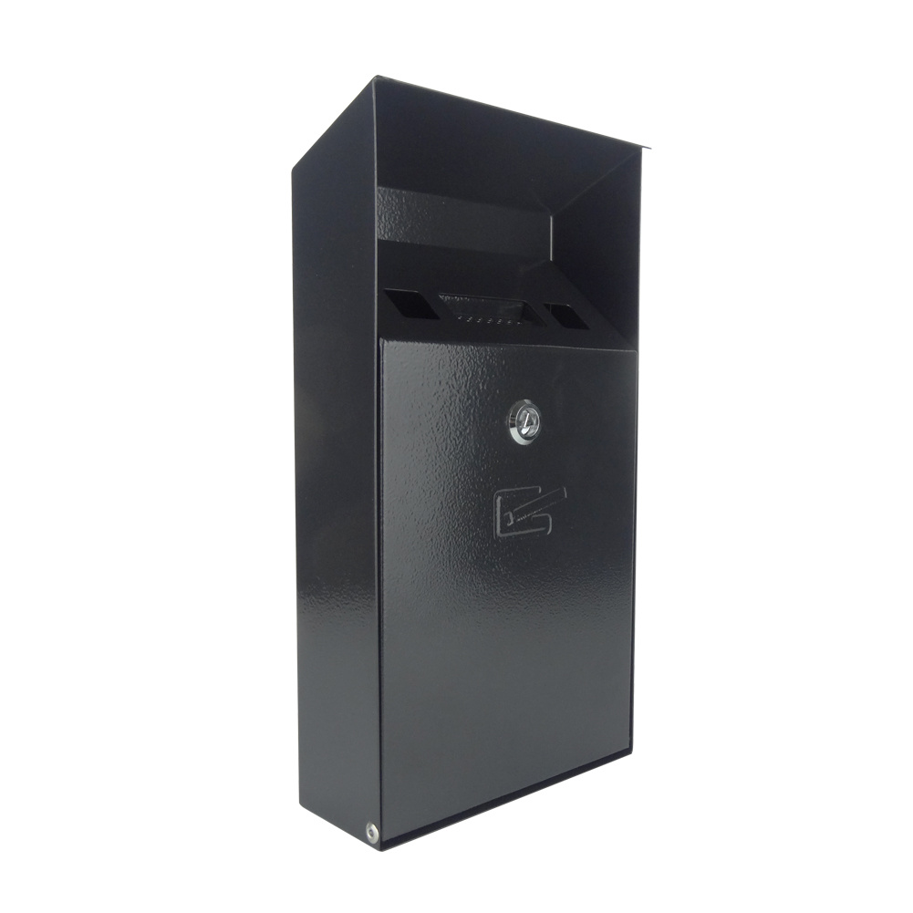 Slim Self-Extinguishing Weather- & Theft-Proof Wall-Mounted Cigarette Bin