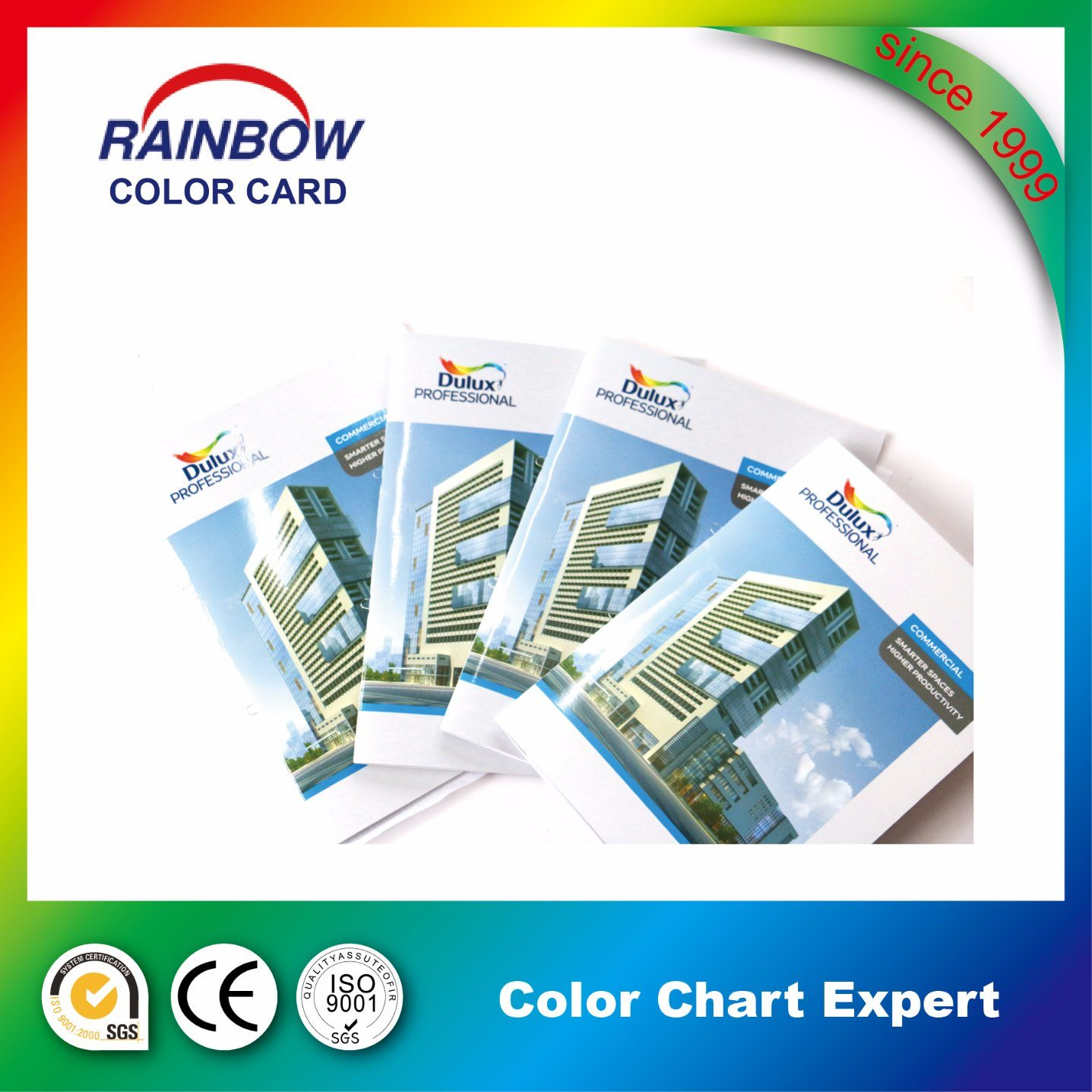 Perfect Binding Customized Book Printing Color Card Brochure